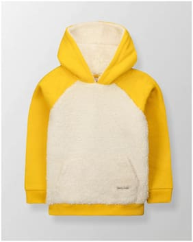 Cherry Crumble Boy Cotton blend Colorblocked Sweatshirt - Yellow