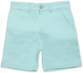 Cherry Crumble By Nitt Hyman Boy Solid Shorts & 3/4ths - Green