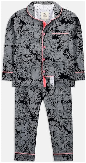 Cherry Crumble Cotton Solid Top & Bottom Set - Multi