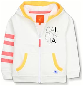 Cherry Crumble By Nitt Hyman Boy Polyester Solid Sweatshirt - White