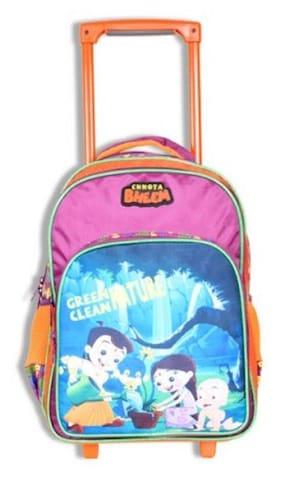 Chhota Bheem Chutki Trolley School Bag - 16 inches
