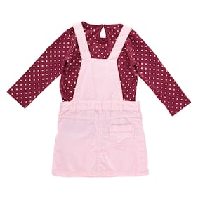 Chirpie Pie by Pantaloons Baby Boy Blended Solid Winterwear Onesie And  Romper - Pink ea879494a