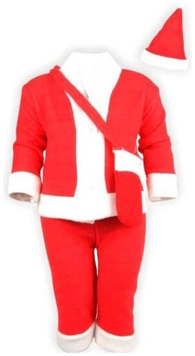 Christmas Santa Claus Fancy Dress Costume for Xmas Party for Boy Girl Kids Merry Christmas kids of 2-3 Years
