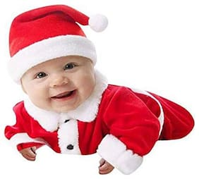 Christmas Santa Claus Fancy Dress Costume For 6-9 months baby Xmas Party costume For Boy Girl Kids Merry Christmas Kids