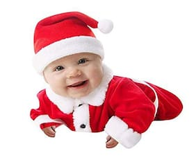 9da55f610 Christmas Santa Claus Fancy Dress Costume For 6-9 months baby Xmas Party  costume For