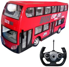 City Bus Remote Control Vehicles, 6 Ch 2.4G - High Speed Big Size Bus Toy - Simulation Sound and Working Head Light