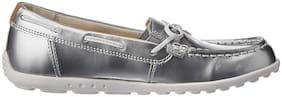 Clarks Silver Casual Shoes For Girls