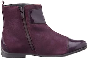 Clarks Maroon Boots For Girls