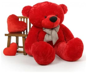 CLICK4DEAL 3 FEET LONG HUGE LOVEABLE HUGABLE PLAYABLE SOFT TEDDY BEAR  RED (91 CM) BEST FOR SOMEONE REALLY SPECIAL