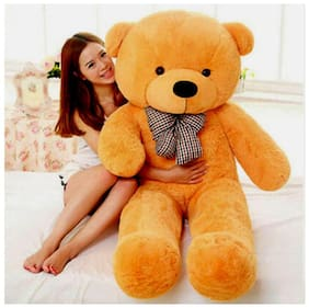 CLICK4DEAL 4 FEET LONG HUGE LOVEABLE HUGABLE PLAYABLE SOFT TEDDY BEAR  BROWN (122 CM) BEST FOR SOMEONE REALLY SPECIAL