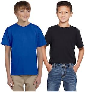 Cliths Boy Cotton Solid T-shirt - Blue