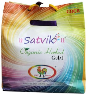Cock Brand Swastik Oroganic Herbal Gulal Pack Of 5 Different Colours Gift Pack