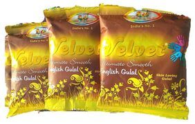 Cock Brand - Velvet Ultimate Smooth English Yellow  Gulal Combo Pack Of  5