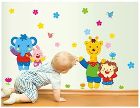 Colorful Cartoons PVC Vinyl Large Wall Sticker