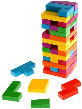 Colorful Combine Jenga Tetris Tower Up Stacking Game Set for Kids