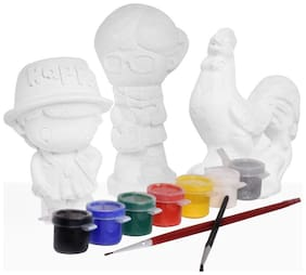 Coloring Activity Kit for Kids 3D Statues CS-3-4