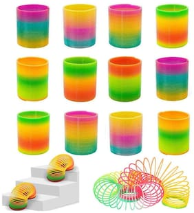 Colourful Rainbow Magic Spring Coil - Birthday Return Gifts (Pack of 12)