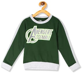 Colt Baby boy Cotton Printed Sweatshirt - Green
