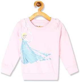Colt Baby girl Cotton Printed Sweatshirt - Pink