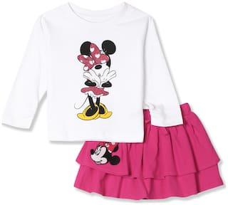 Colt Baby girl Top & bottom set - Pink & White