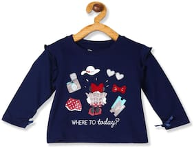 Colt Cotton Printed T shirt for Baby Girl - Blue