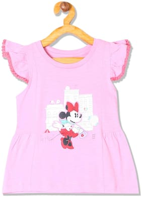 Colt Cotton Printed Top for Baby Girl - Pink
