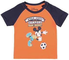 Colt Cotton Printed T shirt for Baby Boy - Orange