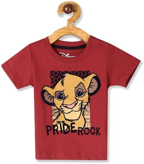 Colt Cotton Self design T shirt for Baby Boy - Red