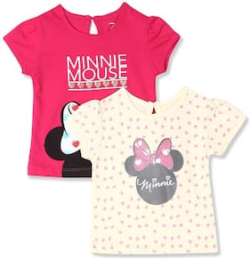Colt Cotton Printed Top for Baby Girl - Multi