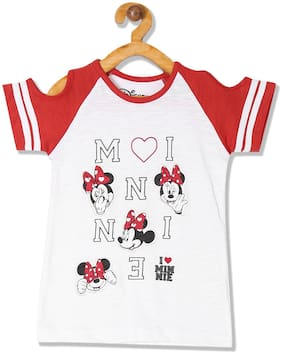 Colt Cotton Printed T shirt for Baby Girl - White