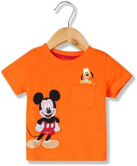 Colt Cotton Printed T shirt for Baby Boy - Orange