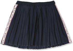 Colt Girl Polyester Solid Flared skirt - Blue