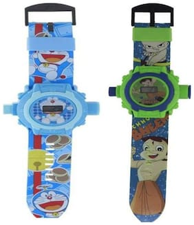Combo Doremon And Chhota Bheem 24 Image Projector Watch Pack Of - 2 By Signomark