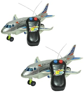 combo of Remote Aeroplane 2 Channel Radio Control (Running, Not Flying)