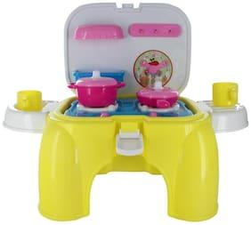 Comdaq Kitchen Yellow Stool Playset