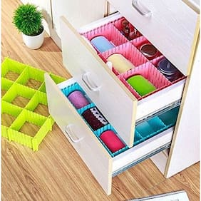 CONNECTWIDE  Adjustable DIY Grid Drawer Closet Divider Storage Organizer Clapboard (Check the size before Order)(1pc)