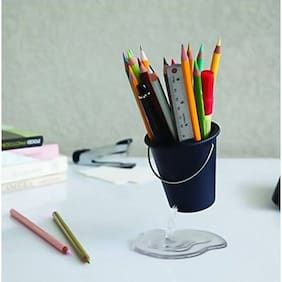 CONNECTWIDE  Floating Desk Bucket - Stationary holder,Creative Pencil Holder, Design Floating Bucket Pen Case Container Ideal Desk Accessory , cute Pencil Holder for office