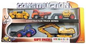 Construction Toys for Kids Set of 5 Pcs Metal with Plastic Parts Small and Big Toy