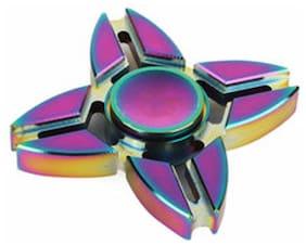 Cool Four Spinner Fidget Aluminum Finger Stress Hand Desk Toy EDC ADHD Autism