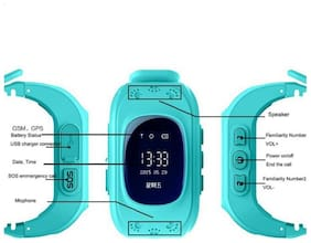 Cos thets Q50 Kids GPS Watch Anti-Lost Children Safety Tracker Band Smart Phone Watch for Android/iOS multi calours