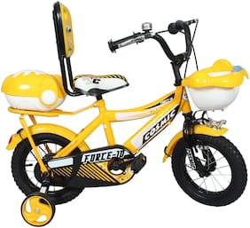 COSMIC FORCE-10 KIDS BICYCLE 30.48 cm (12 inch) YELLOW/WHITE
