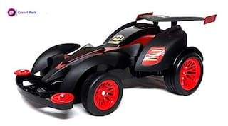 Cossetpack Batman Theme Fast Remote Control Car 803BM (Multi Color) with Free POP Station Gift Multi