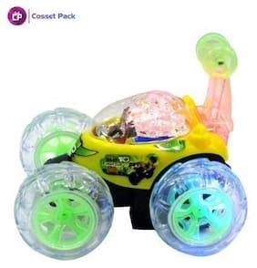 Cossetpack Big Stunt Rc Car in Many Cartoons Design ( Colour and Concept as per Stock ). Multi