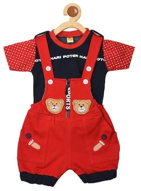 Covetus Dungaree For Boys & Girls Casual Cotton Blend Multi