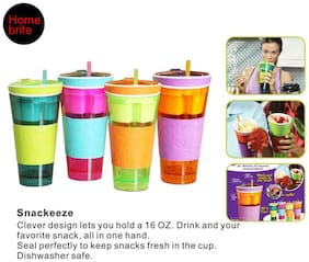 CPEX 2 in 1 Travel Cup Snack Drink And Easy Go Anywhere
