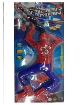 Crawling Spiderman Toy With LED Gun