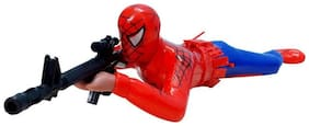 Crawling Spiderman Toy With LED Gun.