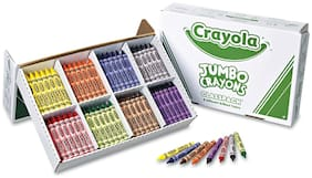 Crayola Jumbo Classpack Crayons 25 Each of 8 Colors 200/Set 528389