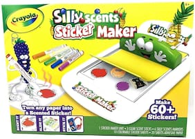 Crayola Silly Scents Sticker Maker Ages 6+ Create 60+ Scented Stickers