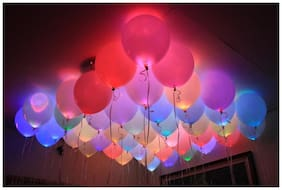 Crazy Sutra Pack Of 100 Premium Quality Led Balloons